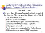 lea reviews permit application package and submits proposed full permit package1