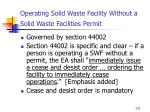 operating solid waste facility without a solid waste facilities permit