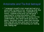 antoinette and tia first betrayal