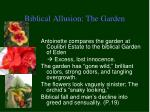 biblical allusion the garden