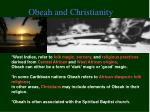 obeah and christianity