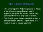 the emancipation act