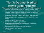 tier 3 optimal medical home requirements