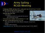 army sailing rc o meeting