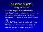 esclusione di ipotesi diagnostiche