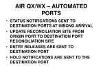 air qx wx automated ports