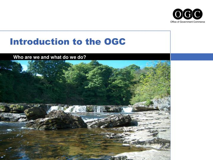 introduction to the ogc n.