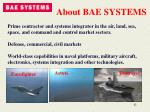 about bae systems