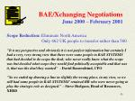 bae xchanging negotiations june 2000 february 2001