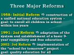 three major reforms