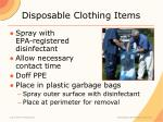 disposable clothing items