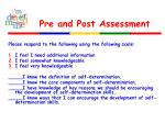 pre and post assessment