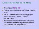 le riforme di pericle ad atene
