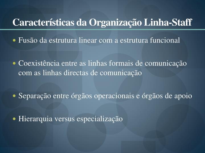 Características da Organização