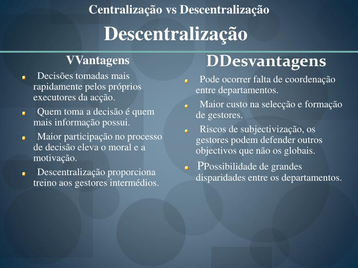 DDesvantagens