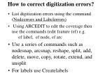 how to correct digitization errors