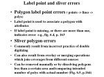 label point and sliver errors