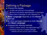 defining a package
