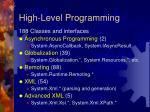 high level programming