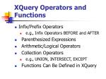xquery operators and functions