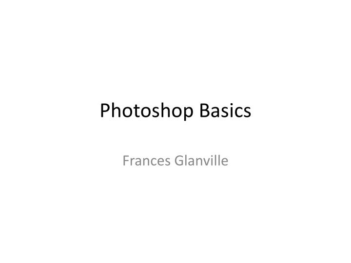 photoshop basics n.