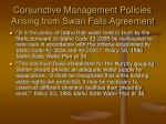 conjunctive management policies arising from swan falls agreement1