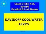 cases c 414 415 416 99 davidoff levi strauss