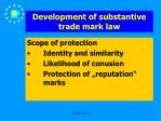 development of substantive trade mark law16
