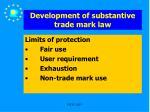 development of substantive trade mark law25