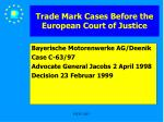 trade mark cases before the european court of justice