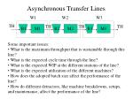 asynchronous transfer lines