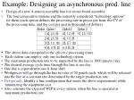 example designing an asynchronous prod line