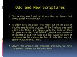 old and new scriptures