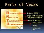 parts of vedas