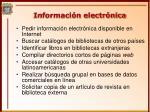 informaci n electr nica