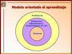 modelo orientado al aprendizaje