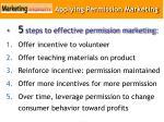 applying permission marketing