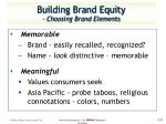 building brand equity choosing brand elements1