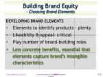 building brand equity choosing brand elements6