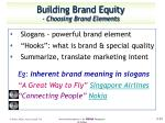 building brand equity choosing brand elements7