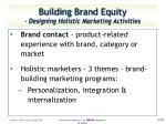 building brand equity designing holistic marketing activities