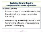 building brand equity designing holistic marketing activities1