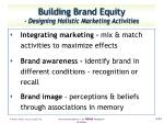 building brand equity designing holistic marketing activities3