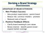 devising a brand strategy brand extensions
