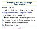 devising a brand strategy brand portfolios