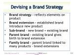 devising a brand strategy