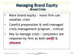 managing brand equity brand crisis
