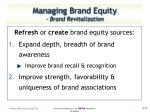 managing brand equity brand revitalization