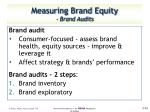 measuring brand equity brand audits