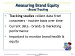 measuring brand equity brand tracking